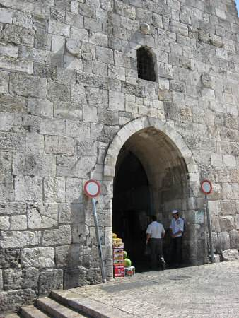 Entrance to Herod's Gate, from the south