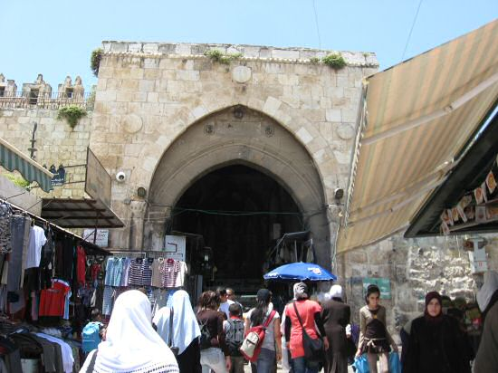 Southern exit of Damascus Gate