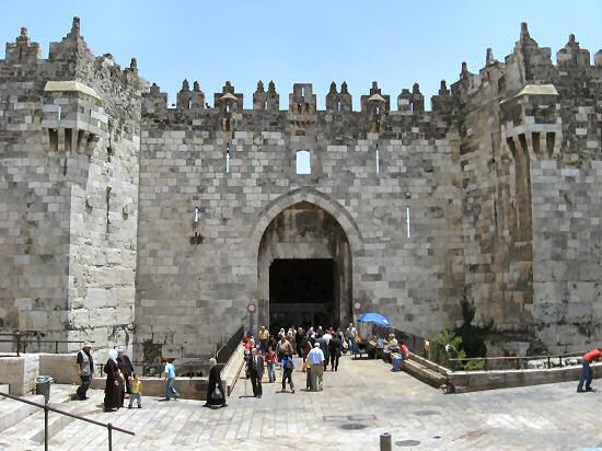 Damascus Gate from outside, looking south