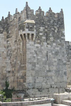 Western tower of Damascus Gate