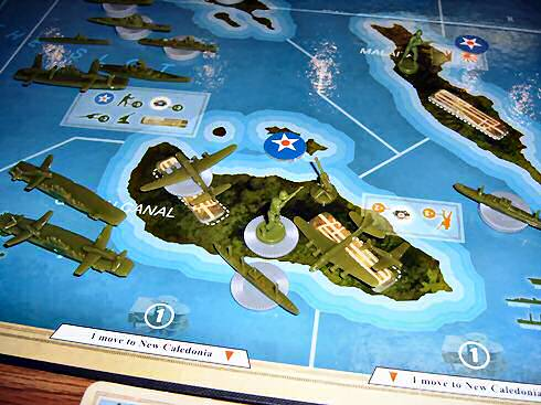 Allied ground and air forces occupy the island of Guadalcanal, with its strategically important airfield