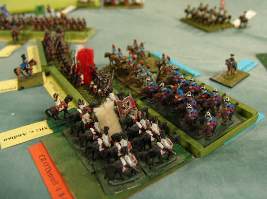 The Spanish charge the reformed Austrian flank