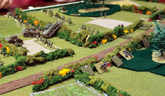Germans fire into the American flank