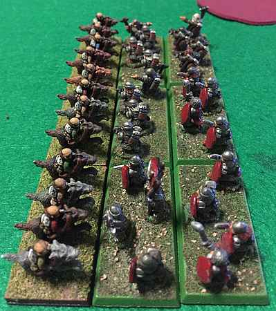 Dwarves charge the Wolf Riders