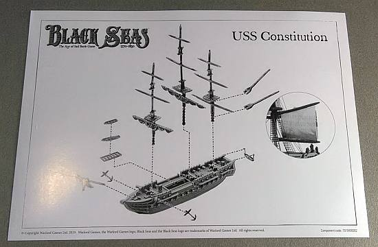 USS Constitution instruction sheet