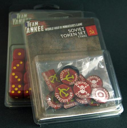 Soviet dice and tokens