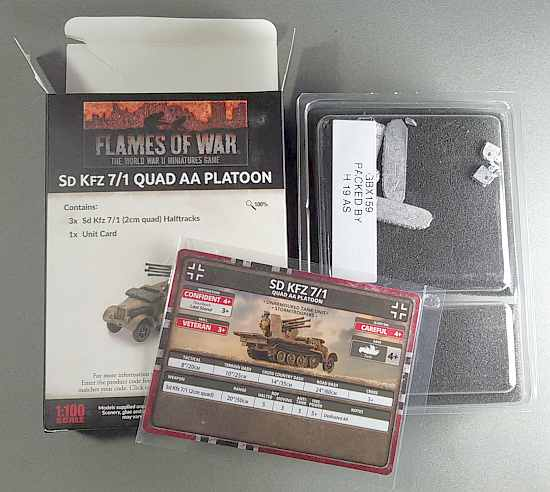AA Platoon box contents