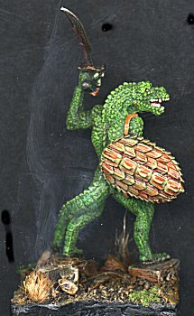 Lizardman with shield from Syr Hobbs' collection
