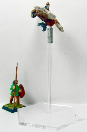 Eagle with 25mm figure