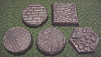 some of the available textures - flagstone, cobblestone, urban technical, regular, and skulls
