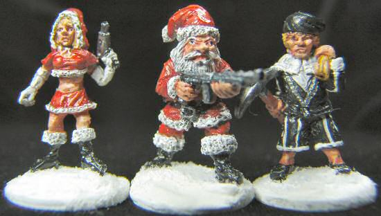 Mother Christmas, Santa and Black Pete