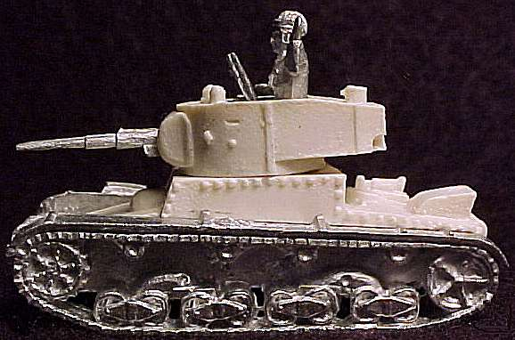 unpainted T-26 light tank from Battlefront