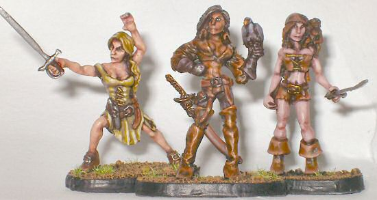 Pirate ladies - three skin tones