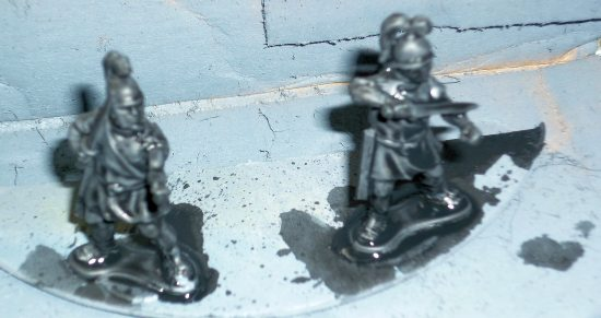 Figures with Black Wash
