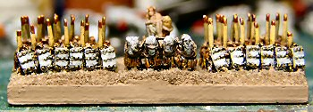 Sumerian command spearmen stand