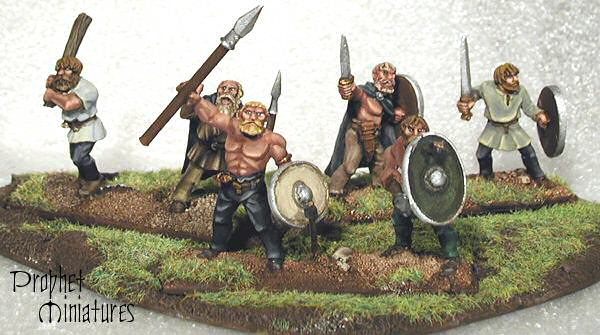 Barbarians as painted by Prophet Miniatures