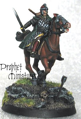 Rider of Rohan figure, as painted by Prophet Miniatures
