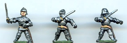 Unlike these 15mm dismounted knights, as painted by PhilGreg Painters (Collector Quality)