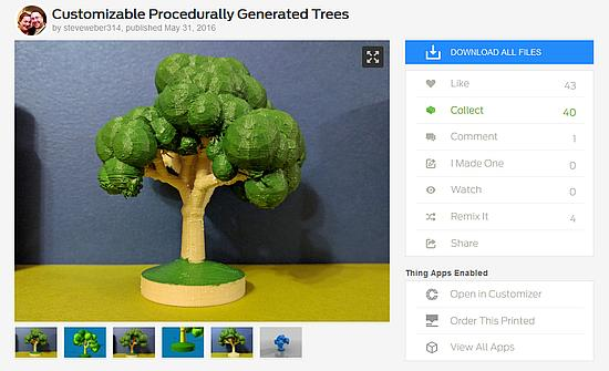 Customizable model on Thingiverse