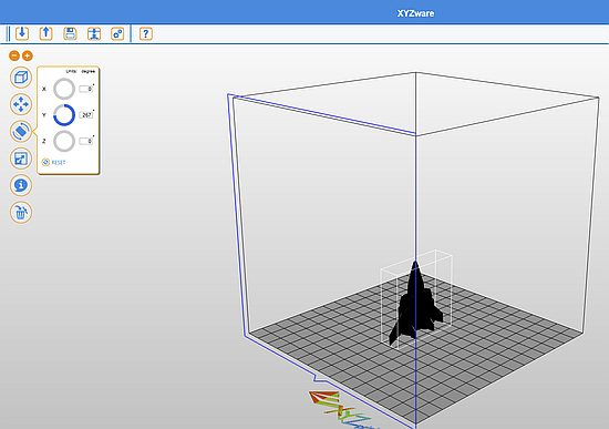 Model in the printer software